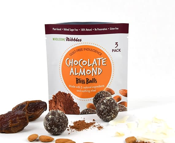 chocolate almond bliss balls vegan snack