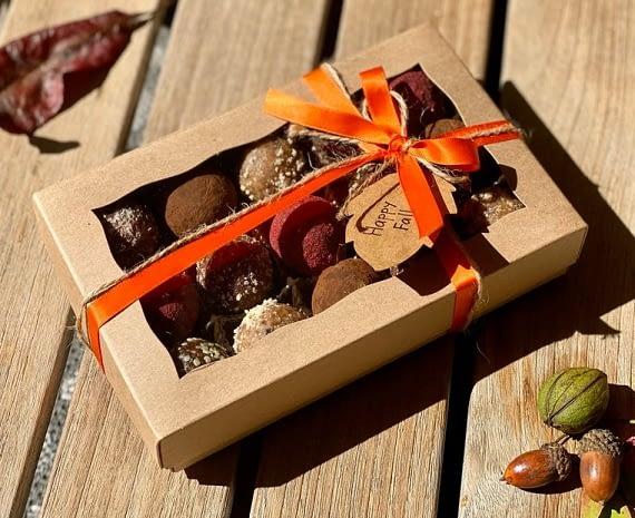 fall holidays chocolate gift box vegan