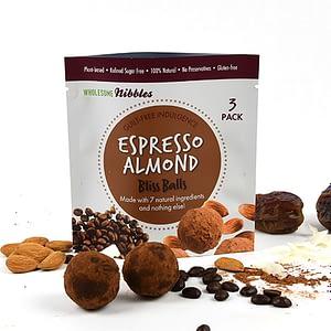 espresso almond bliss balls vegan snack