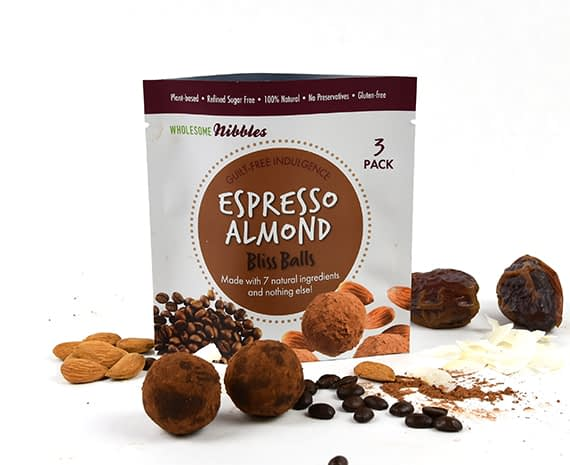 espresso almond bliss balls vegan snack