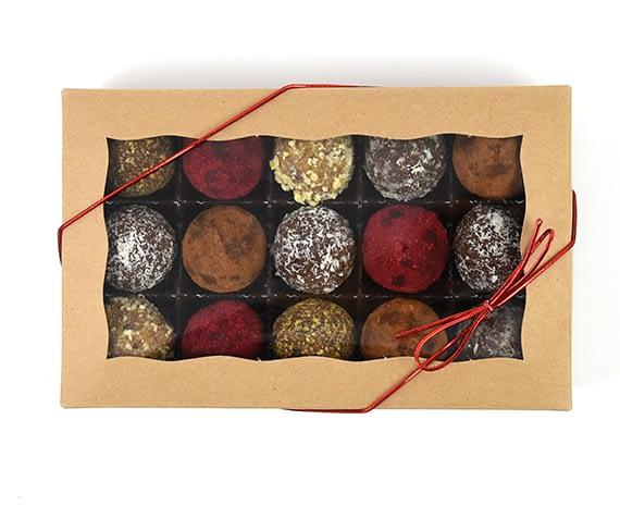 vegan truffles gift box healthty